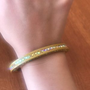 J Crew hinged sparkle bracelet